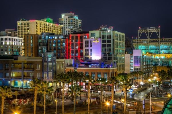 La noche en San Diego