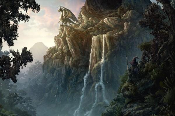 Dragón en el acantilado