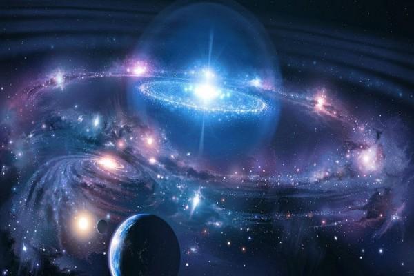 Universo azul chispeante