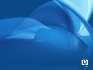 Logo de Hp con ondas azules