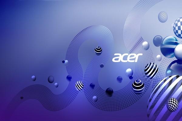 Acer en un original fondo