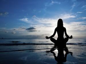 Postal: Meditación