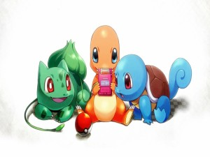 Postal: Los Pokémon: Bulbasaur, Charmander y Squirtle