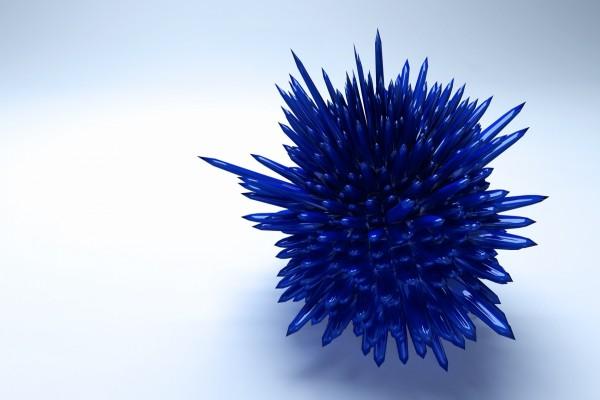 Esfera de cristal con pinchos