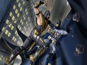 "Scorpion y Batman en ""Mortal Kombat Vs. DC Universe"""