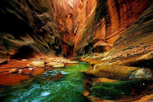 Interior de un impresionante cañón