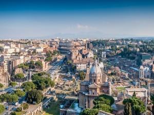 Postal: La bella ciudad de Roma