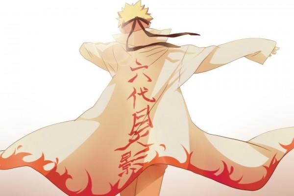 Naruto Uzumaki de espaldas