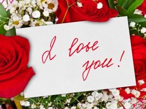 Postal: Ramo de flores con un mensaje de amor
