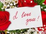 Ramo de flores con un mensaje de amor