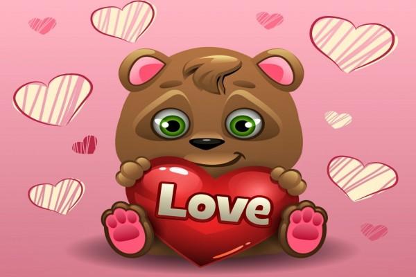 Osito con un corazón para el Día de San Valentín