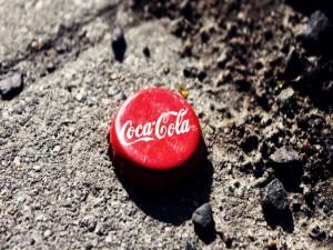 Una chapa de Coca-Cola