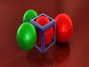 Postal: Esferas y cubos