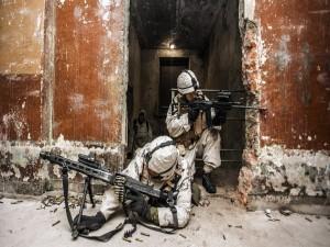 Postal: Soldados armados