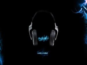 Postal: Música saliendo de unos auriculares