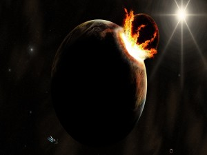 Postal: Colisión planetaria