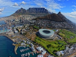 Postal: Hermosas vistas de Ciudad del Cabo (Sudáfrica)