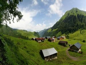 Cabañas en la montaña
