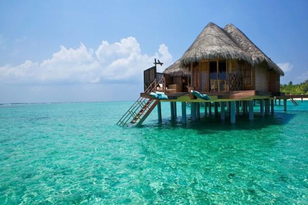Cabaña sobre el mar para pasar unas vacaciones