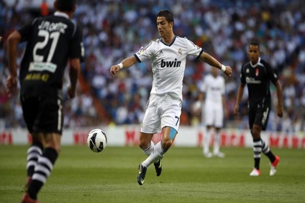 Cristiano Ronaldo en un partido del Real Madrid