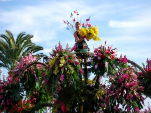 Postal: Exposición de flores en Holanda