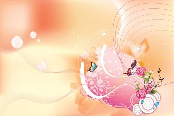 Mariposas revoloteando junto a un rosal