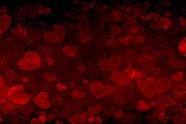 Fondo cubierto de corazones