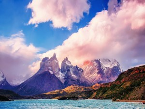 Postal: El magnifico lago Pehoé