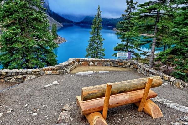 Lugar para contemplar el bello lago