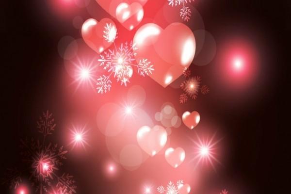 Corazones rosas iluminados