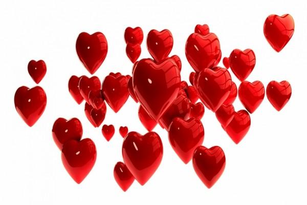 Varios tamaños de corazones