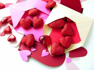 Postal: Cartas con corazones para enviar por San Valentín