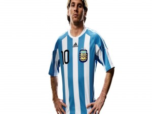 El espectacular Lionel Messi con la camiseta de Argentina