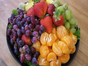 Postal: Tazón con frutas