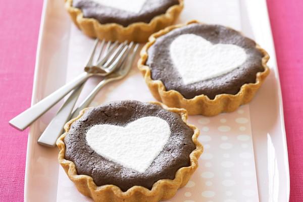 Tartaletas de chocolate con mucho amor