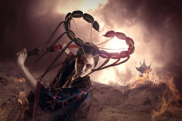 Mujer representando al signo de Escorpión