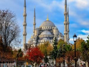 Postal: Mezquita Azul (Estambul)