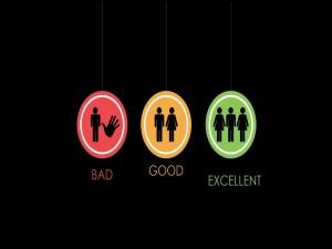Mal, Bien y Excelente