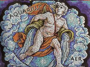 Postal: Mosaico de Acuario, elemento Aire