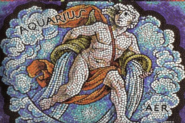 Mosaico de Acuario, elemento Aire