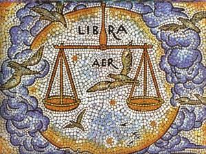 Postal: Mosaico de Libra, elemento Aire