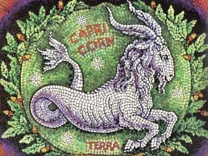 Mosaico de Capricornio, elemento Tierra