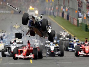 Postal: Accidente de Fórmula 1
