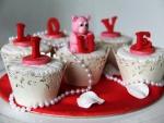 Bonitos cupcakes para el Día de San Valentín