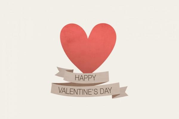Corazón y Feliz Día de San Valentín