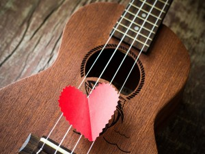 Postal: Amor por la guitarra
