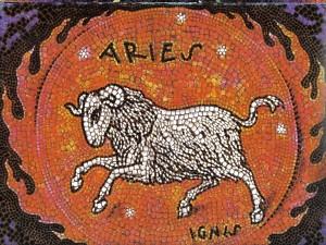 Mosaico de Aries, elemento Fuego