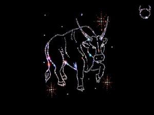 El signo Tauro con pequeños brillantes