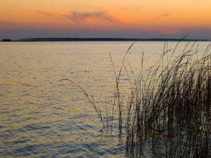 Postal: Bonito cielo sobre el agua