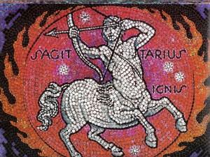 Mosaico de Sagitario, elemento Fuego